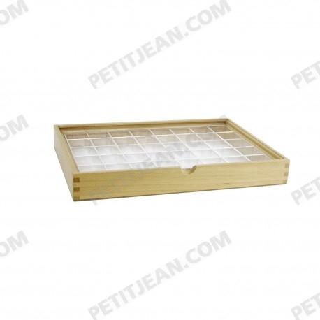 Boîte de présentation en bois